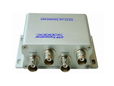 4 Channel Passive UTP Video Balun Transceiver