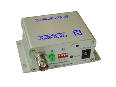 Single Channel Active UTP Video Balun Receiver