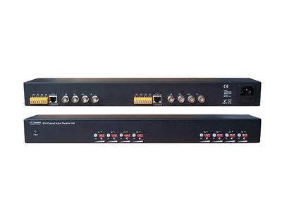 Rack-mountable 8 Channel Active UTP Video Balun Receiver
